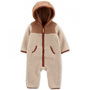 Baby Boys Zip-Up Hooded Jumpsuit