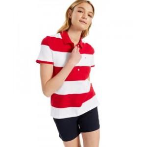 Striped Pique Polo Shirt
