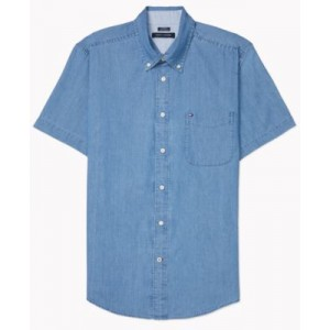 Mens Custom-Fit Benny Twill Shirt with VELCRO Closure