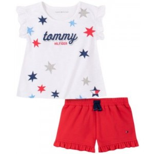 Little Girls Ruffled Tank Top and Floral Shorts Set, 2-Piece