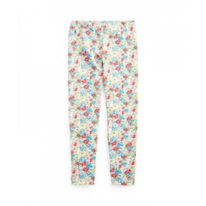 Big Girls Floral Stretch Jersey Legging Pants