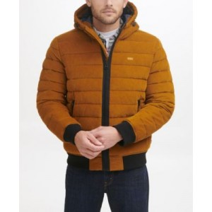 Mens Quilted Corduroy Bomber Jacket
