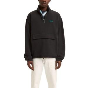 Mens Quarter Zip Mockneck Popover Sweatshirt