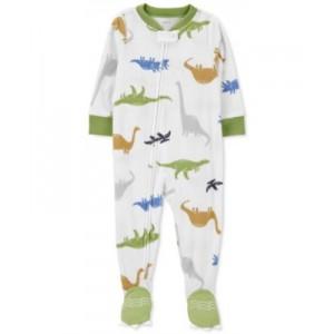 Baby Boys Dinosaur-Print Fleece Pajamas