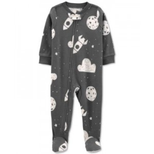 Baby Boys or Girls Space-Print Fleece Coverall