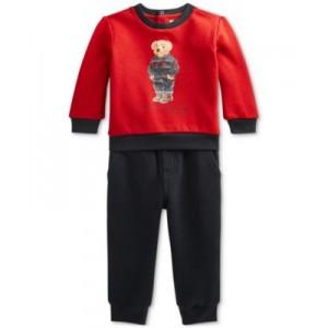 Baby Boys Polo Bear Fleece Sweatshirt & Pants Set