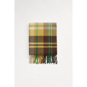 PLAID SCARF WITH FRINGES
