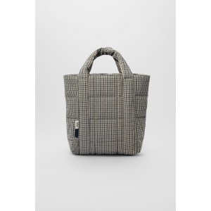 PLAID QUILTED SHOPPER