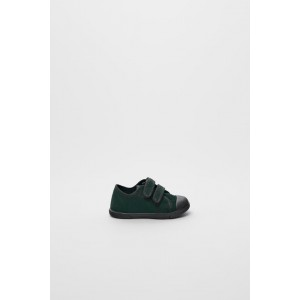 LEATHER SNEAKERS WITH TOE CAP
