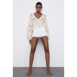 COTTON CARDIGAN WITH PEARL BUTTONS