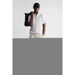 SQUARE TEXTURED POLO SHIRT
