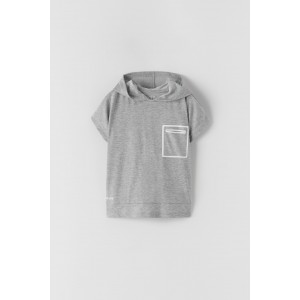 SPORTY HOODED T-SHIRT