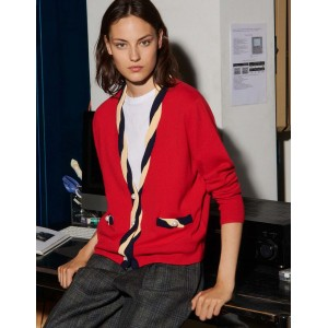 Cropped cardigan in wool and cashmere