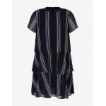Armani Exchange STRIPED CHIFFON DRESS, Mini Dress for Women   A X Online Store
