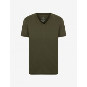 Armani Exchange SLIM FIT PIMA COTTON TEE, Solid T Shirt for Men | A|X Online Store