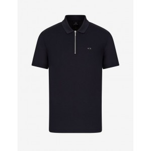 Armani Exchange POLO WITH ZIP, SHORT SLEEVES POLO for Men | A|X Online Store