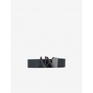 Armani Exchange LEATHER BELT WITH LOGO BUCKLE, Belt for Men | A|X Online Store