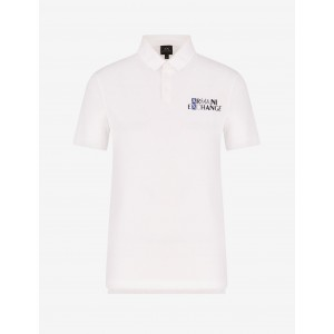 Armani Exchange POLO WITH LOGO LETTERING, SHORT SLEEVES POLO for Men | A|X Online Store