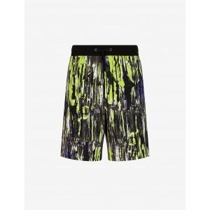 Armani Exchange PATTERNED JERSEY FLEECE BERMUDA SHORTS, Shorts for Men | A|X Online Store