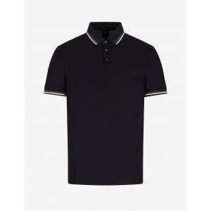 Armani Exchange MERCERISED COTTON POLO, SHORT SLEEVES POLO for Men | A|X Online Store
