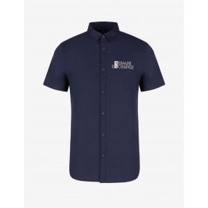 Armani Exchange RECYCLED COTTON SHIRT, Plain Shirt for Men | A|X Online Store