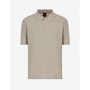 Armani Exchange LINEN BLEND POLO, SHORT SLEEVES POLO for Men | A|X Online Store