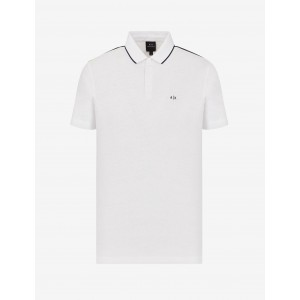 Armani Exchange LINEN AND COTTON POLO, SHORT SLEEVES POLO for Men | A|X Online Store