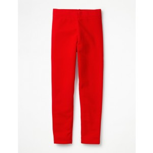Plain Cosy Leggings - Rockabilly Red