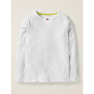 Long-sleeved Rosebud T-shirt - White