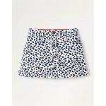 Button-through Dalmatian Skirt - Ivory and Navy Dalmatian Spot