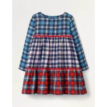 Tiered Woven Dress - Multi Check