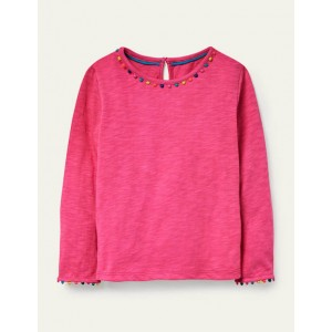 Long Sleeve Charlie T-shirt - Party Pink