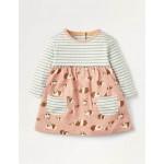 Jersey Hotchpotch Dress - Chalky Pink Baby Guinea