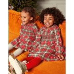 Check Smocked Dress - Rockabilly Red and Pink Check