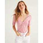 Jane Jersey Top - Formica Pink, Polka Dot