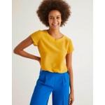 Polly Silk T-Shirt - Tuscan Sun