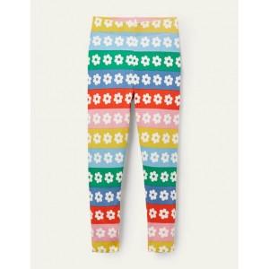 Fun Leggings - Rainbow Daisy Stripe