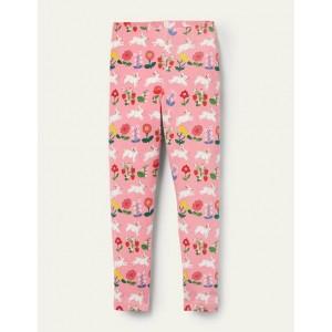 Fun Leggings - Pink Lemonade Bunny Stripe