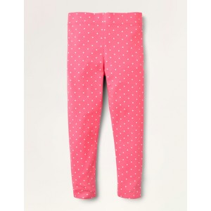 Fun Leggings - Bright Camelia Pink/Ivory Spot