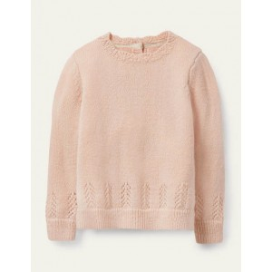 Pretty Pointelle Jumper - Provence Dusty Pink