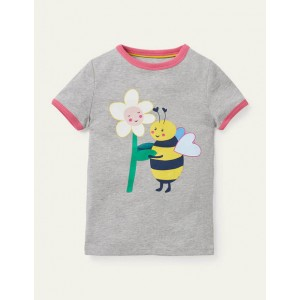 Lets Bee Friends T-shirt - Grey Marl Bee