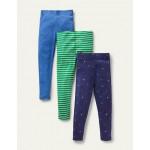 3-Pack Fun Leggings - Starboard Blue Confetti Spot