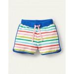 Retro Printed Shorts - Multi Rainbow Stripe