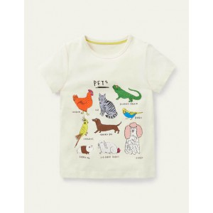 Fun Facts Graphic T-shirt - Ivory Pets