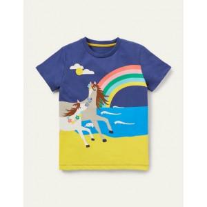 Scene T-shirt - Starboard Blue Horse