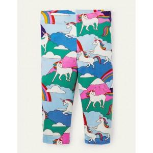 Fun Cropped Leggings - Multi Unicorn Mountain