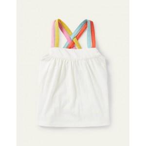 Rainbow Strap Vest - Ivory