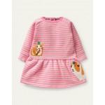 Cosy Sweatshirt Dress - Formica Pink/Ivory Guinea Pigs