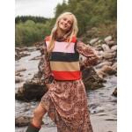Harriet Sweater Vest - Charcoal Melange, Multi Stripe