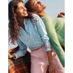 Agnes Oversized Shirt - Fine Blue Ticking Stripe